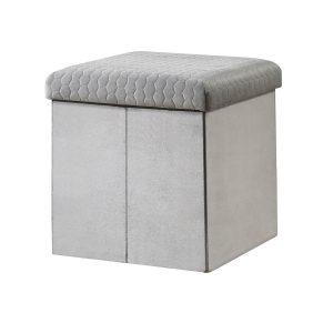 Sadie Foldable Ottoman - Grey