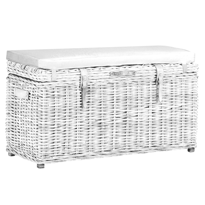 Stamford White Wash Rectangular Trunk Bench