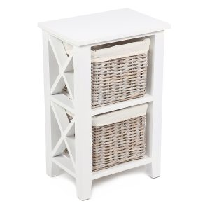 Stamford White Cabinet with 2 Baskets