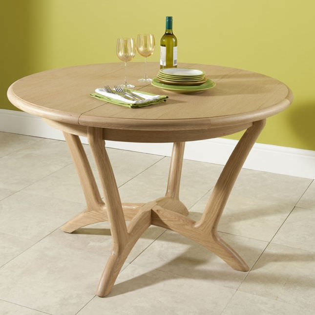 Malmo Round Ext Dining Table 120-164cm WN219