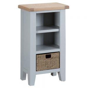 Henley Grey Small Narrow Bookcase