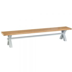 Henley Grey Large Cross Bench