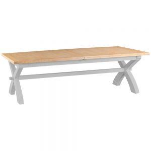 Henley Grey 250-300cm Cross Extending Table