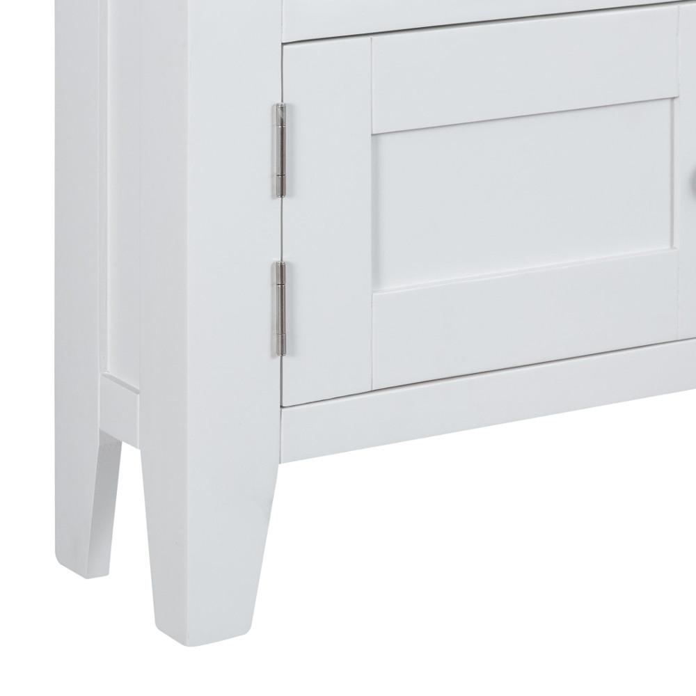 Henley White Corner TV Unit