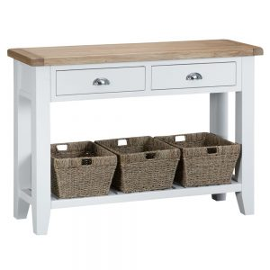 Henley White Large Console Table