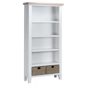 Henley White Large Bookcase