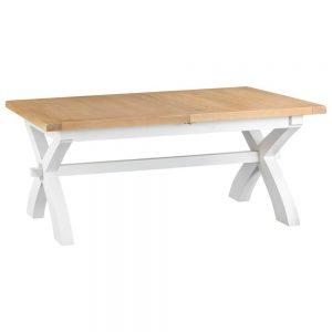 Henley White 180-230cm Cross Extending Table