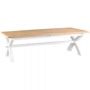 Henley White 250-300cm Cross Extending Table