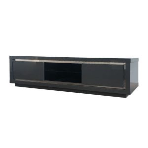 Bremen Entertainment Unit with LED Grey
