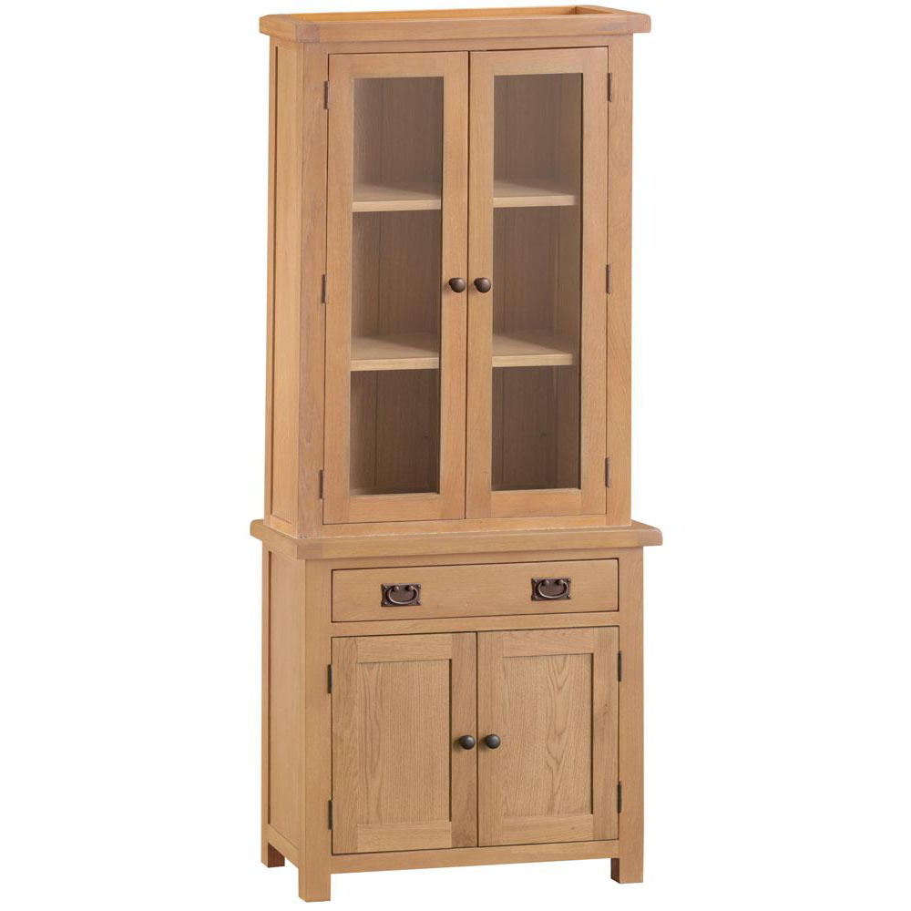 Oakley Rustic Small Sideboard and Small Dresser Top Set