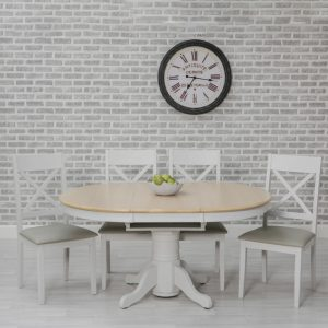 Tilgate Round Extending Dining Table 106.6-151.6cm