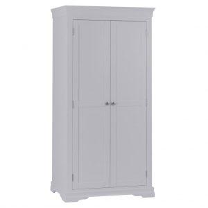 Croft Grey 2 Door Full Hanging Wardrobe