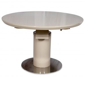 Varna Round Extending Dining Table 120-160cm Cream