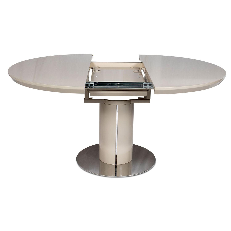 Varna Round Extending Dining Table 120-160cm Cream