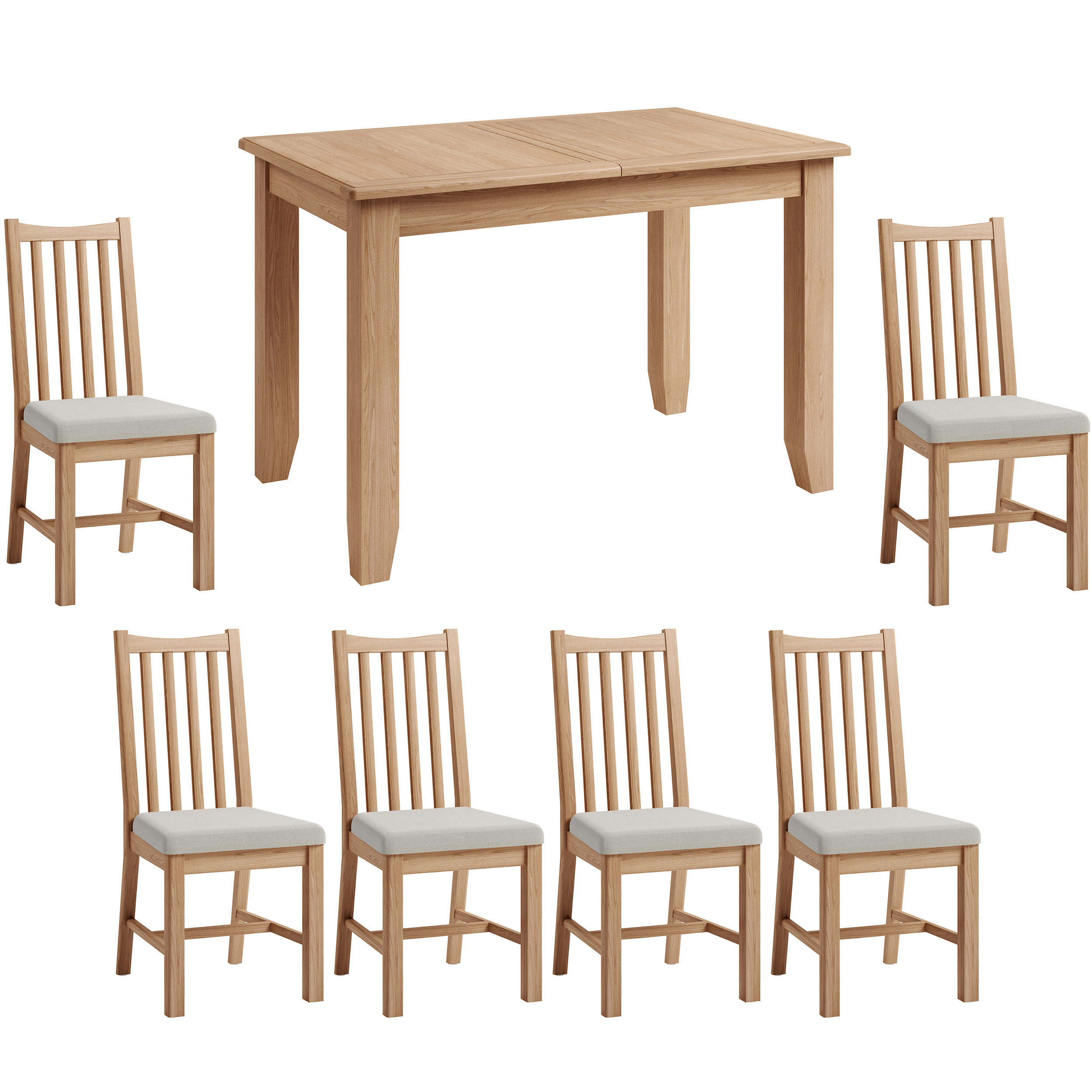 Hurstley 1.2m Table and x6 Chairs Dining Set