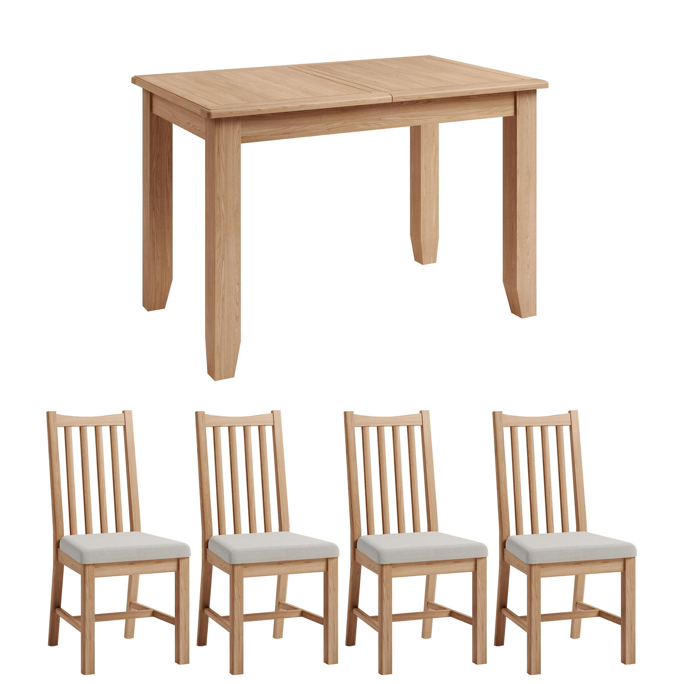 Hurstley 1.2m Table and x4 Chairs Dining Set