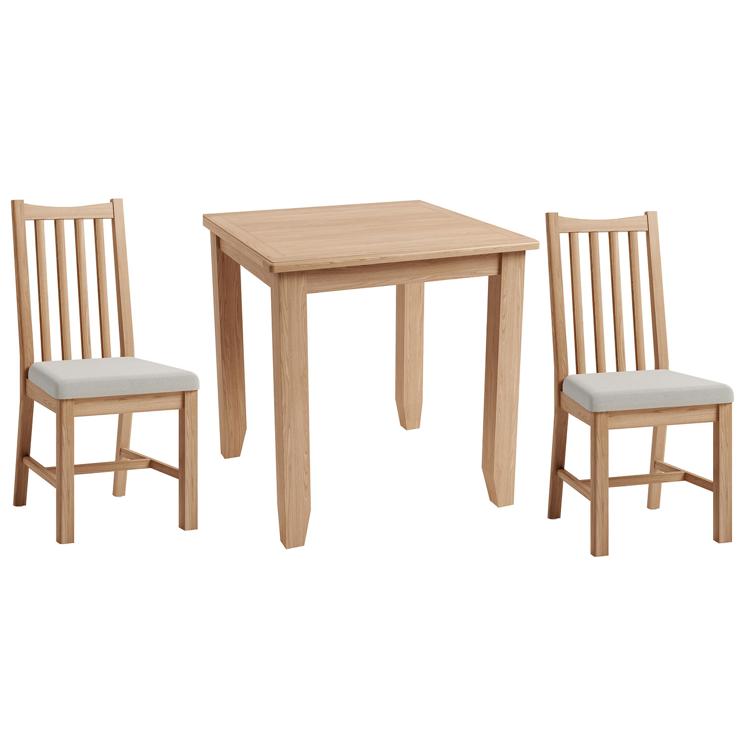 Hurstley Fixed Top Table and x2 Chairs Dining Set