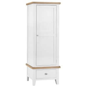 Henley White Single Wardrobe