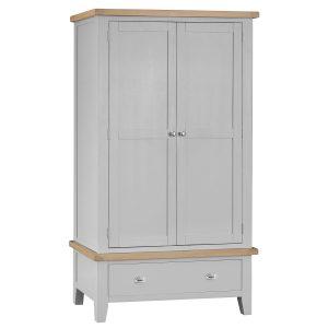 Henley Grey Large 2 Door Wardrobe