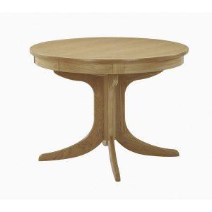 Nathan Shades Oak Circular Pedestal Dining Table 2125