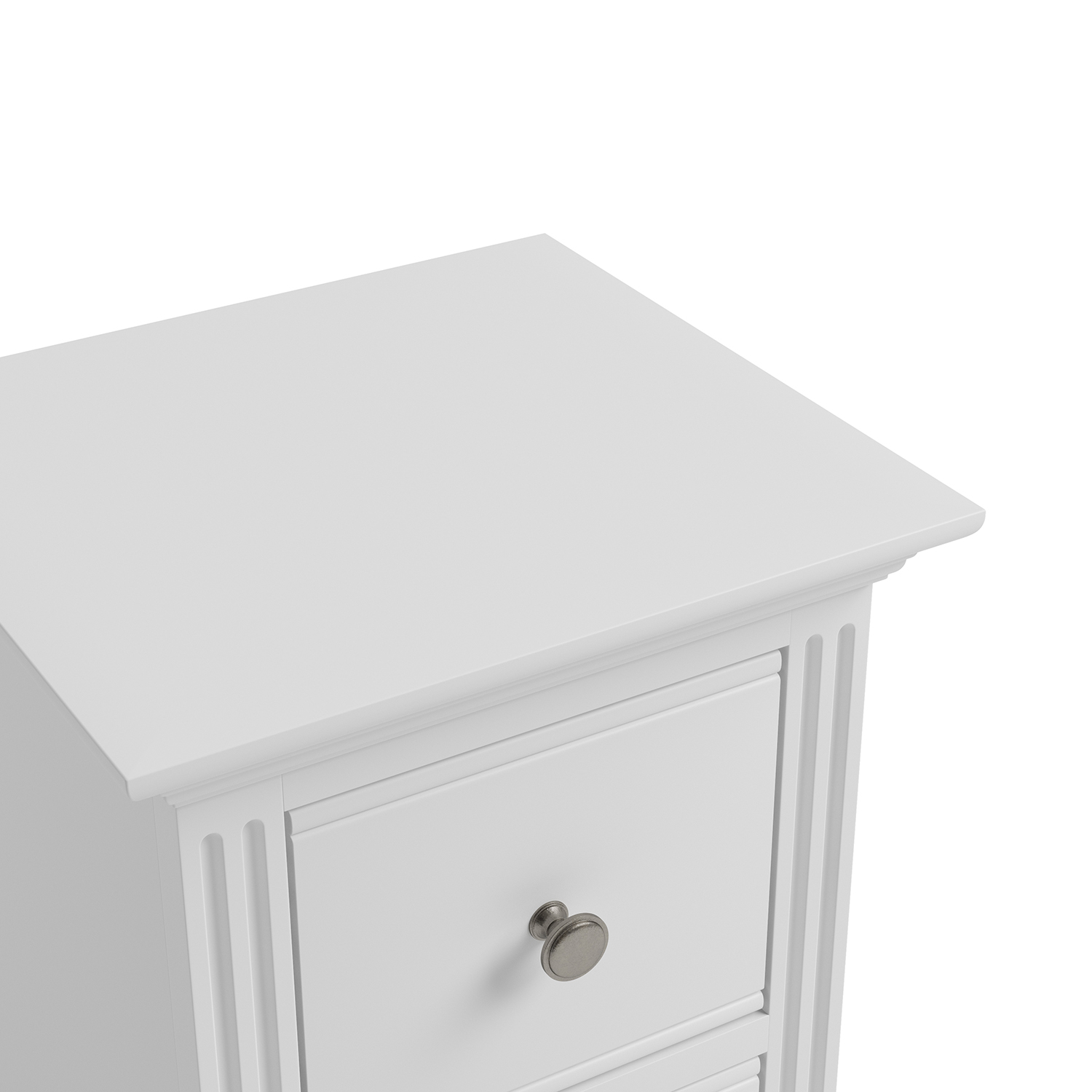 Whitby White Small Bedside