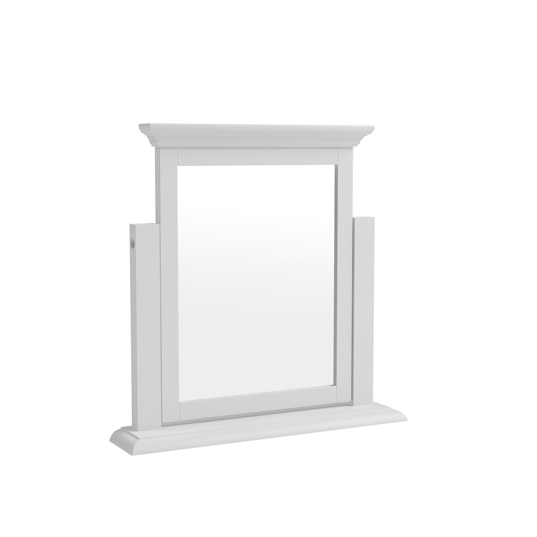 Whitby White Trinket Mirror