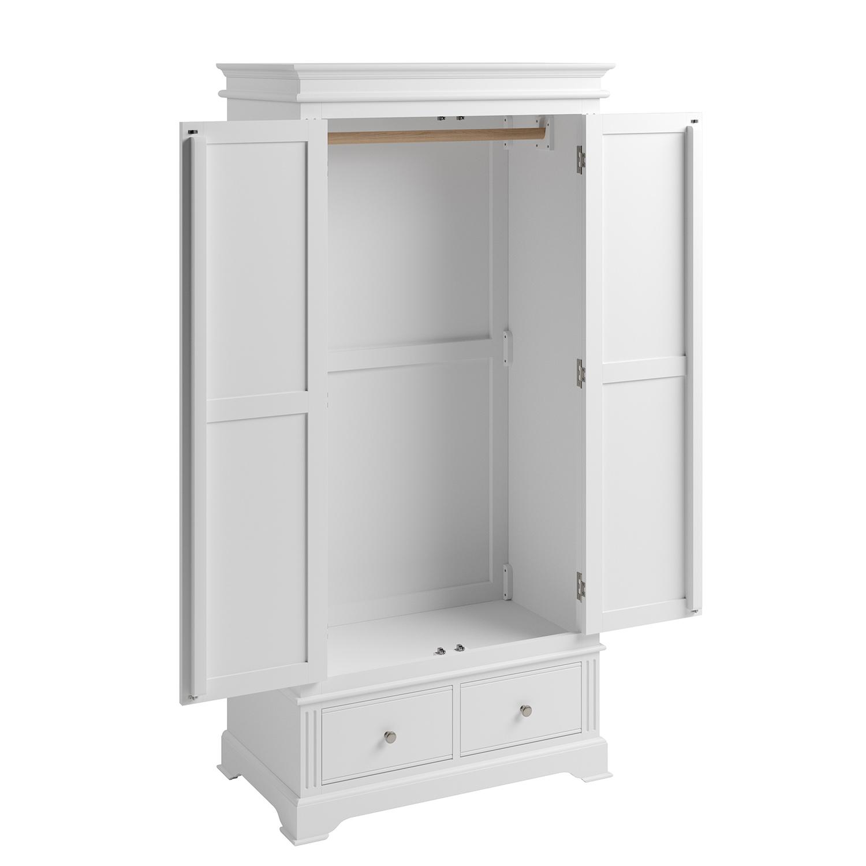 Whitby White 2 Door Wardrobe • Collingwood Batchellor