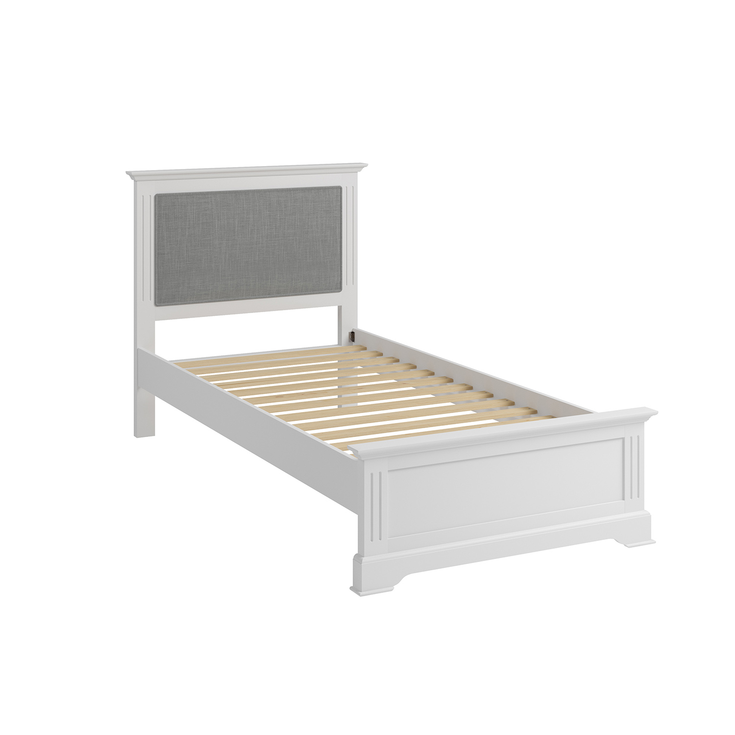 Whitby White Single 90cm Bedstead