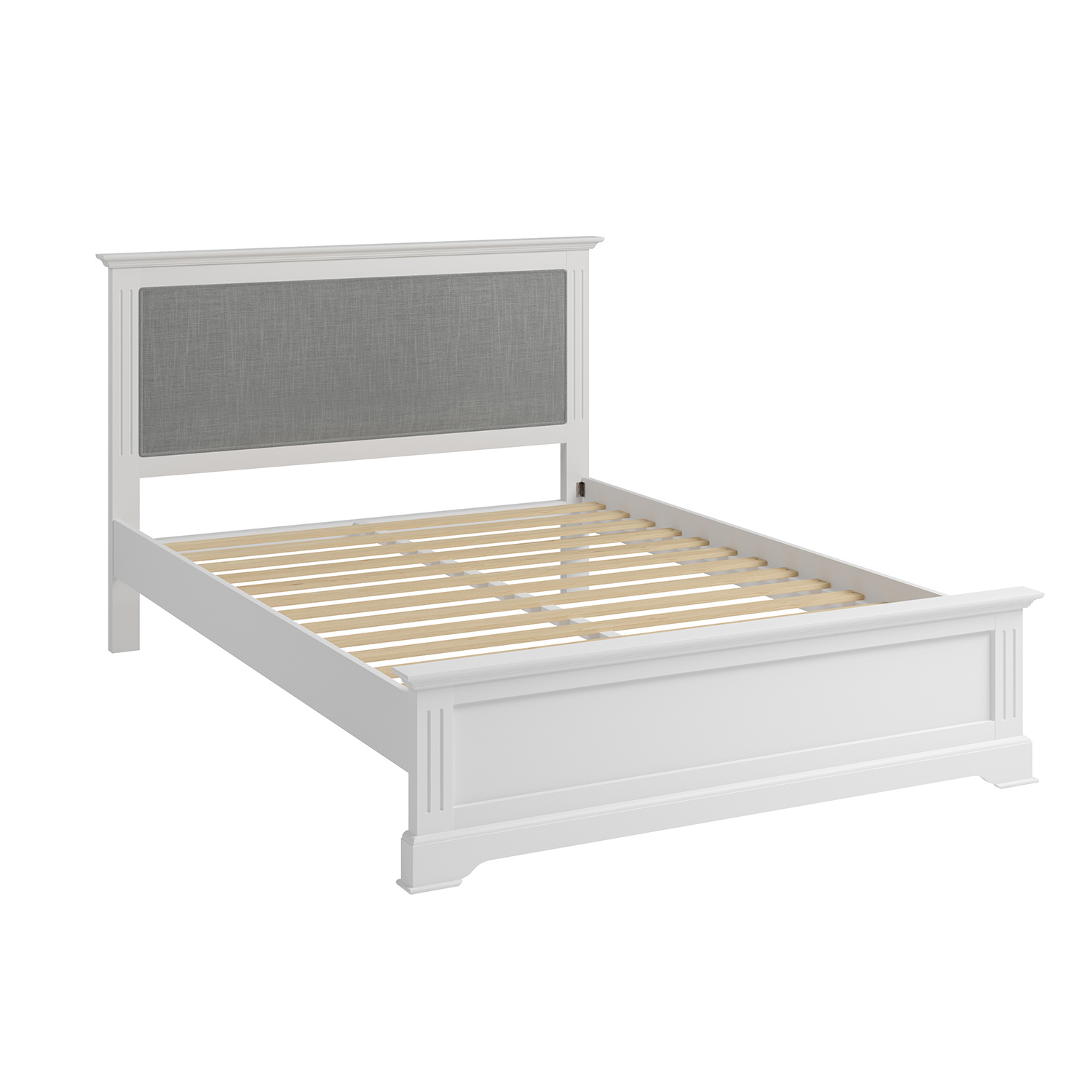Whitby White Double 135cm Bedstead