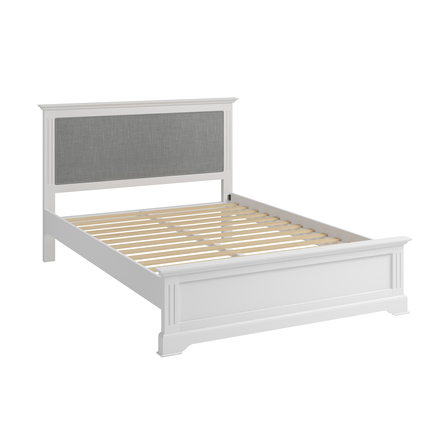 Whitby White King 150cm Bedstead