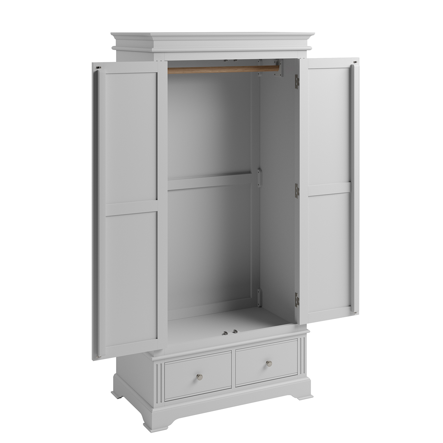Whitby Grey 2 Door Wardrobe