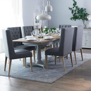 Ashcott 1.6m Table and x4 Button Back Chairs Dining Set