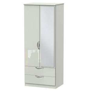 Camden 2 ft 6 in 2 Drawer Mirror Robe