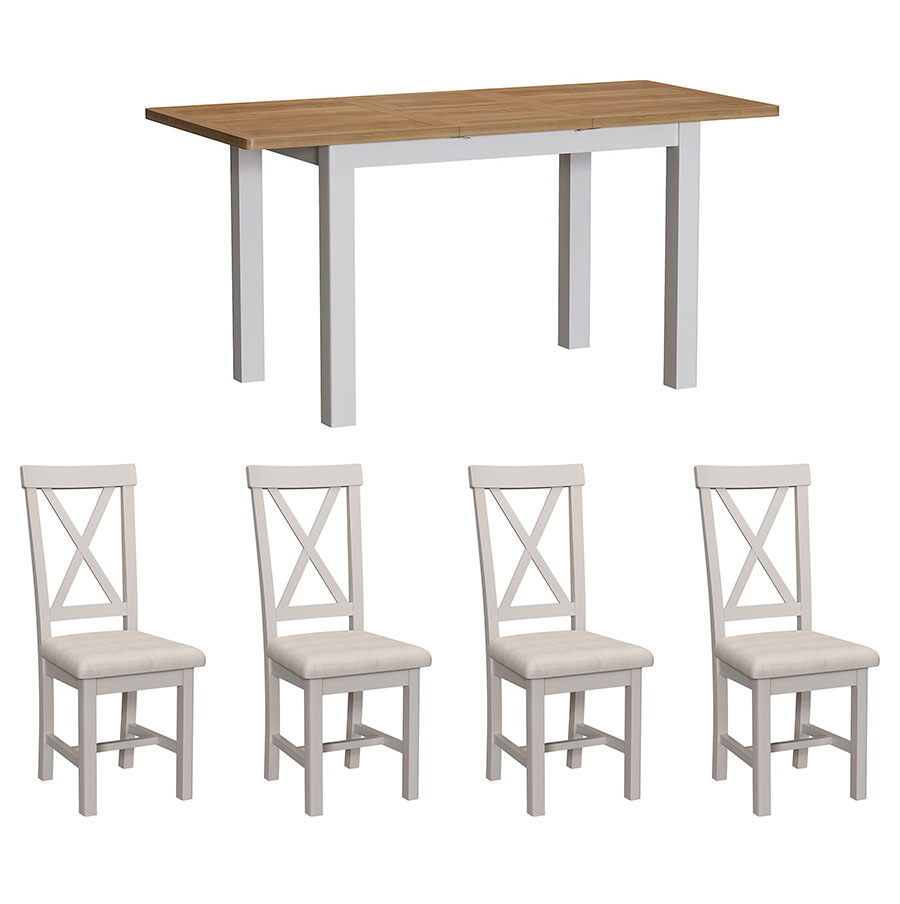 Chiltern Dove 1.2 Table and x4 Chairs Dining Set