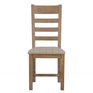 Heritage Oak Slat Back Dining Chair - Natural Check