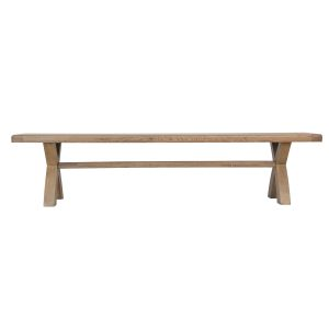 Heritage Oak 2.0m Cross Leg Bench