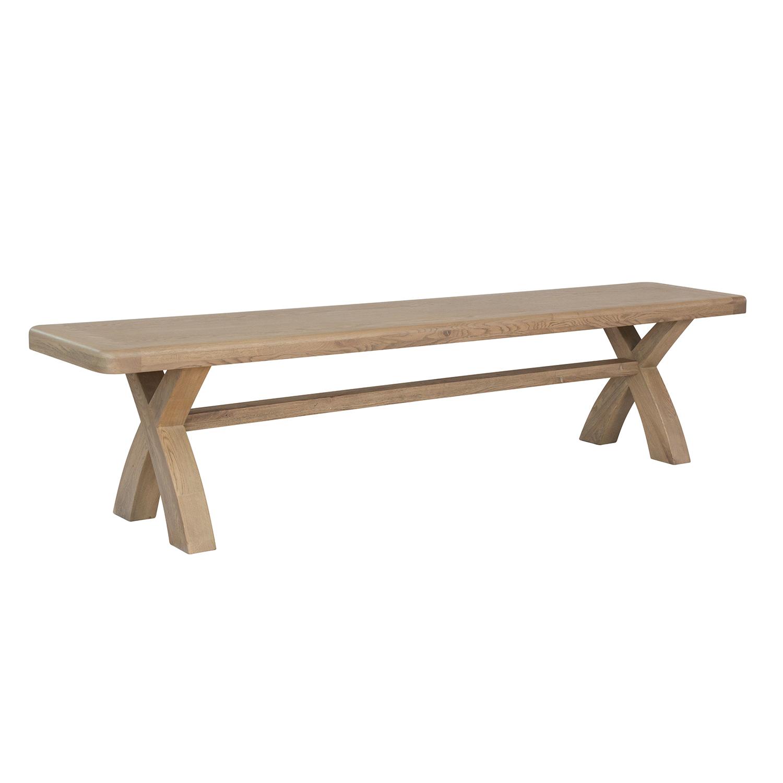 Heritage Oak 2.0m Cross Leg Bench