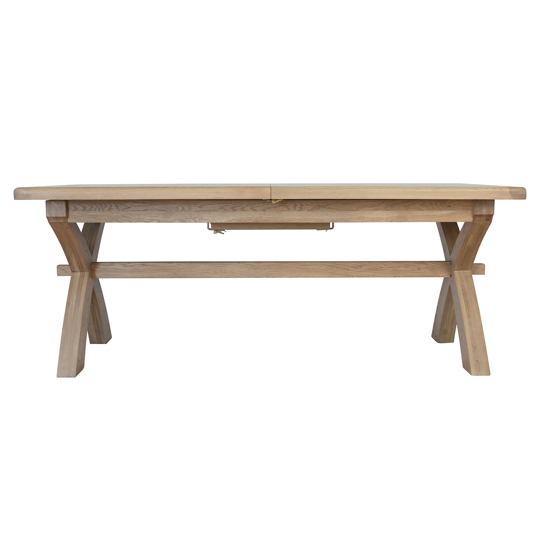 Heritage Oak 2.0m Cross Leg Dining Table