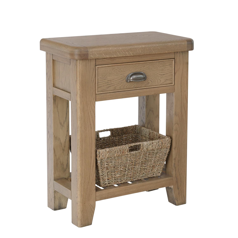 Heritage Oak Telephone Table