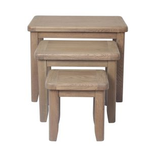Heritage Oak Nest of 3 Tables