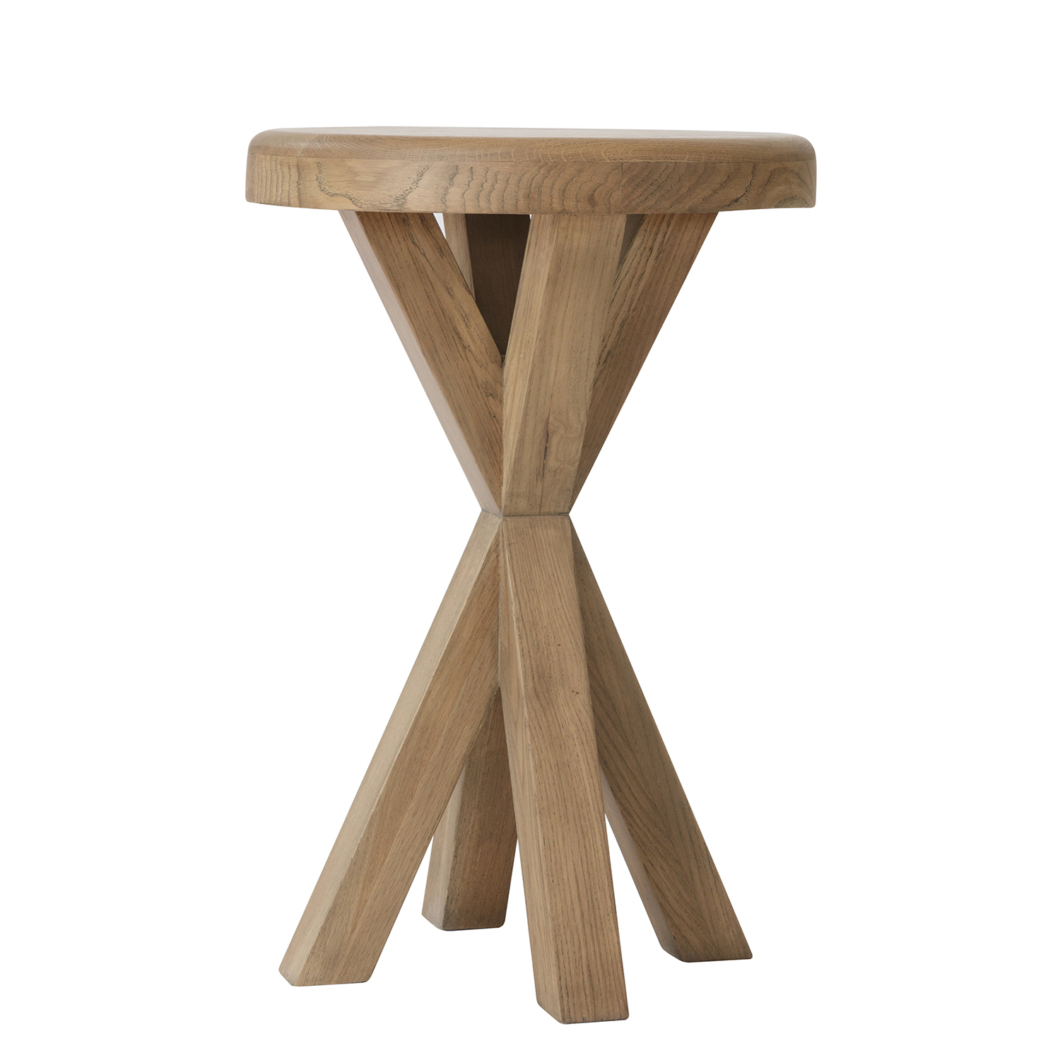 Heritage Oak Round Side Table