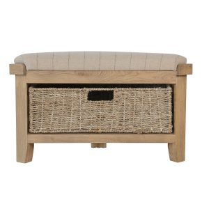 Heritage Oak Corner Hall Bench