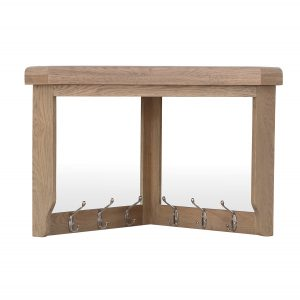 Heritage Oak Corner Hall Bench Top
