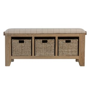 Heritage Oak Hall Bench