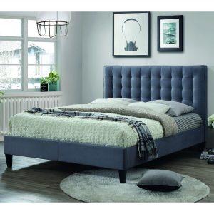 Brooke Double 135cm Bedstead - Grey