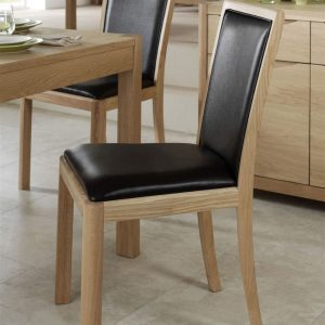 Malmo Upholstered Back Chair Faux Leather WN216L