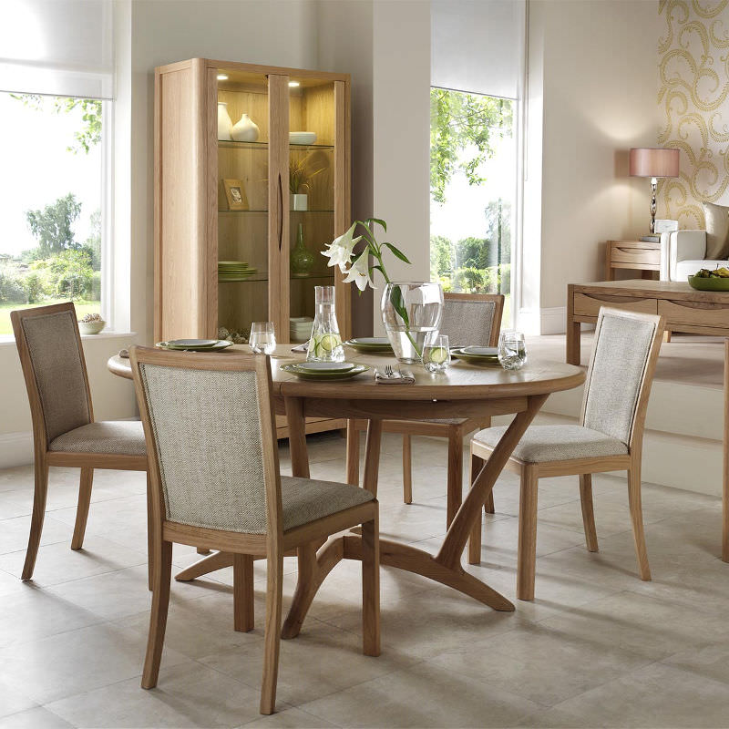 Malmo Oval Ext Dining Table 160-210cm WN218