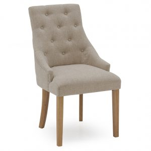 Hepburn Dining Chair - Linen Beige