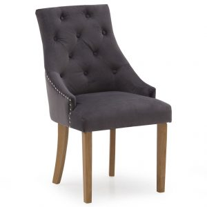 Hepburn Dining Chair - Velvet Misty