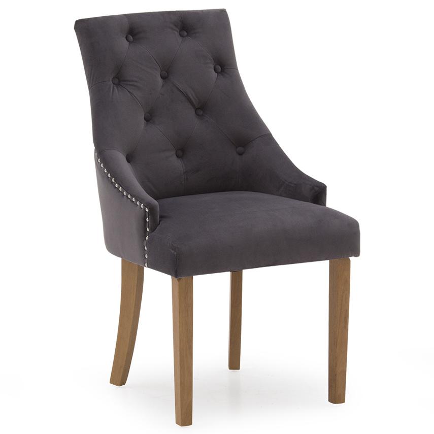 Hepburn Dining Chair - Velvet Misty